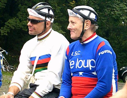 Querfeldein-Legenden: Die jeweils 3-maligen Weltmeister Mike Kluge und Rolf Wolfshohl