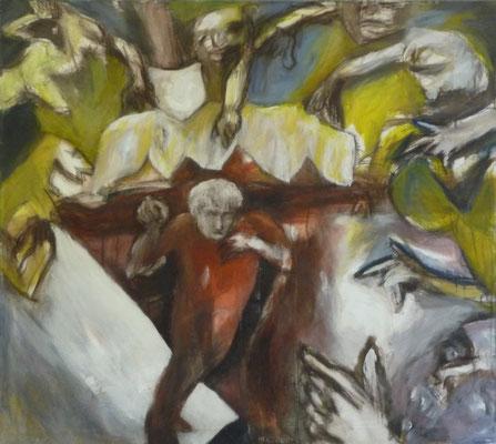 """""""Traum und Trauma"""", 1991, Acryl auf Leinwand, 100x85"""