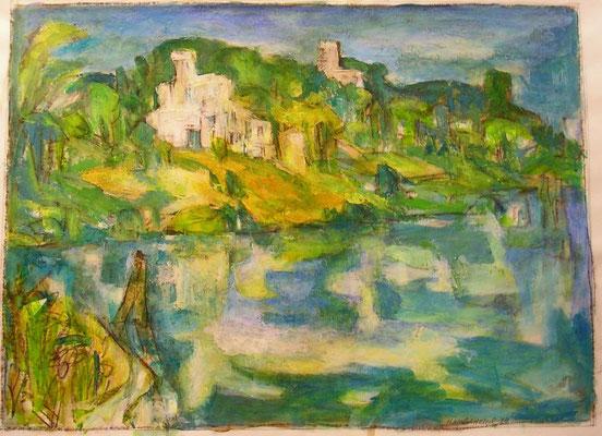 """Potsdamer Landschaft"", 1998, Acryl, 69x50"