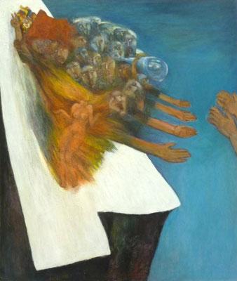 """""""Besinnen und Rufen"""", 2006, Acryl auf Leinwand, 100x85"""