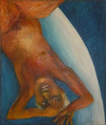 """""""Abstürzen"""", 1995, Acryl auf Leinwand, 100x85"""