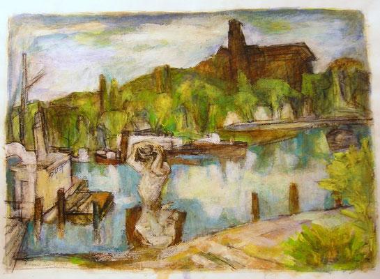"""Potsdamer Landschaft"", 1998, Acryl, 69x49"
