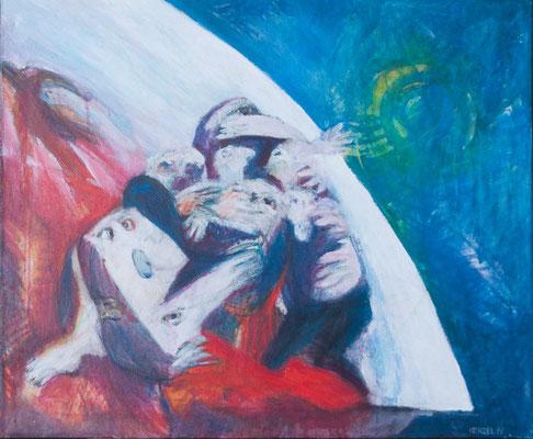 """Festhalten"", 1997, Acryl auf Leinwand, 100x85"