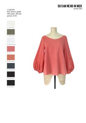 11-582-944, 76 Shirt 7/8 sleeves, coral