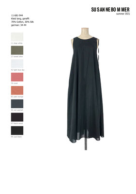 11-681-944, 97 Dress long, black wood