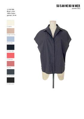 11-542-966,97 Blouse sleeveless, black wood