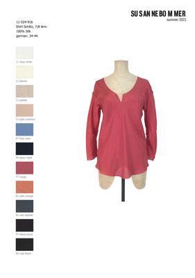 11-524-916, 77  Shirt 7/8 sleeves, rouge