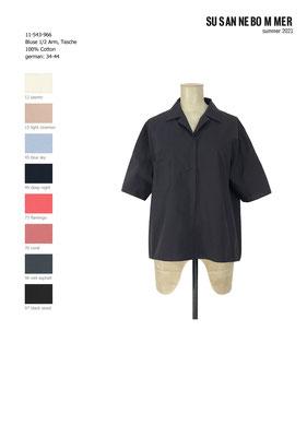 11-543-966, 49 Blouse 1/2 sleeves deep night