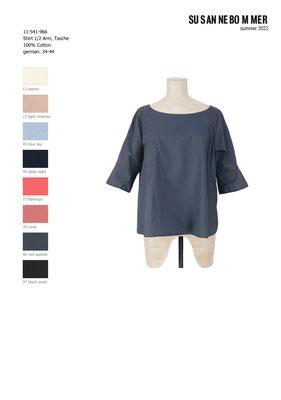 11-541-966, 96 Shirt 1/2 sleeves, wet asphalt