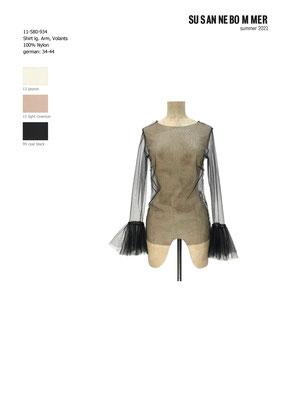 11-580-934, 99, Shirt volants, coal black