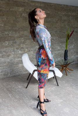 Dress 166-Toni, Print K8
