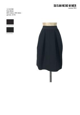 11-410-900,99 Skirt Blüten, coal black