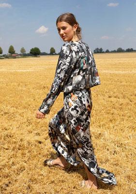 171-SS DITA dress + 213- SA CHANEL jacket, print 015