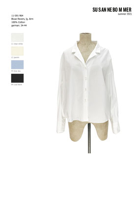 11-591-964, 11 Blouse long sleeves, clear white