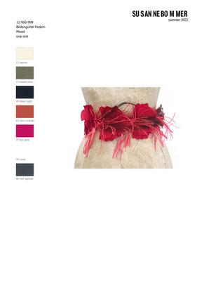 11-950-999,75 Belt Blüten hot pink