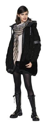 Sweater 306-16, Microskirt 1011-101, Macrojacket 334-17, Scarf 3020-33