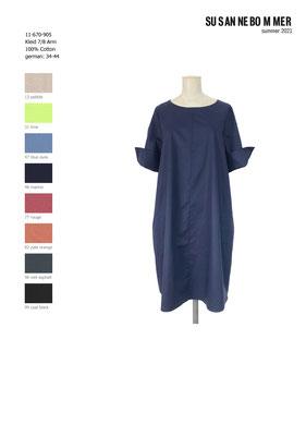 11-670-905, 48 Dress 7/8 sleeves, marine