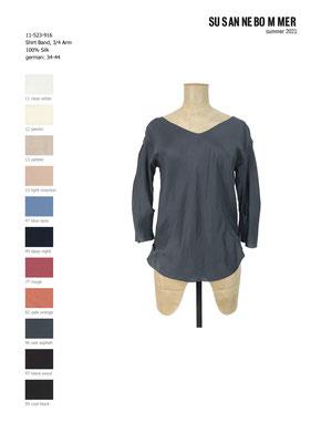 11-523-916, 96 Shirt 3/4 sleeves, wet asphalt