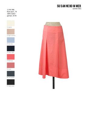 11-441-966, 73 Skirt asymetrique, flamingo