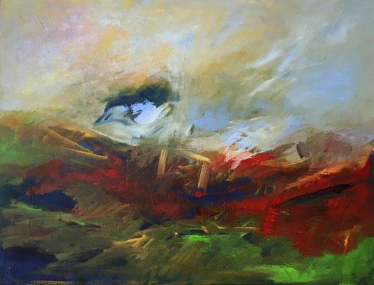 Ohne Titel, 2019, Öl auf Leinwand, 60x80 cm