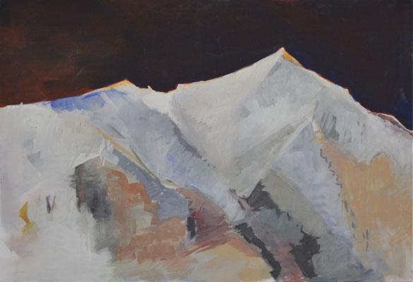 Piz Brunetti,2013,Eitempera auf Leinwand, 70x100 cm