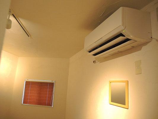 エアコンもお客様に合せられますので、寒がりな方も暑がりな方も即対応可能です。