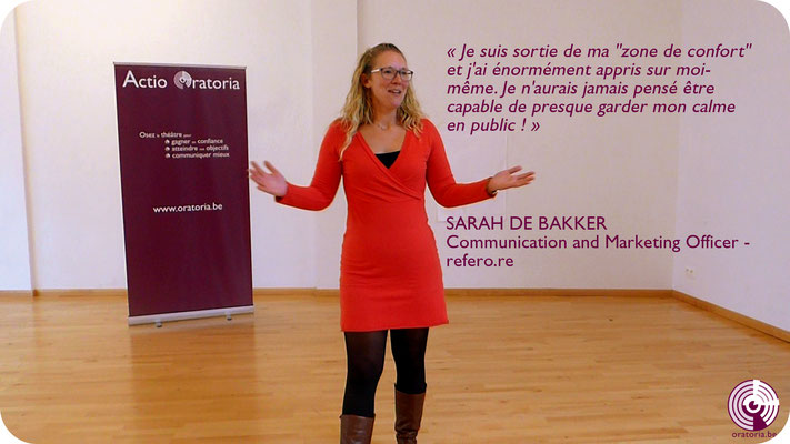 Sarah Prise de Parole en Public Communication Belgique