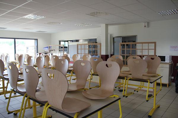 Salle à manger de la MFR du Val de l'Indre à Noyant-de-Touraine
