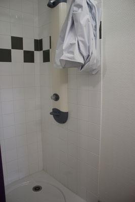 Douche dans les chambres de l'internat de la MFR du Val de l'Indre à Noyant-de-Touraine