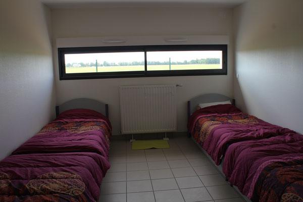 Chambres de 4 lits à l'internat de la MFR du Val de l'Indre à Noyant-de-Touraine