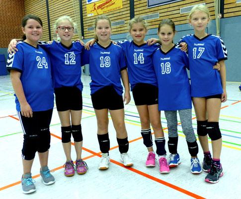 Das aktuelle U 12 w-Team mit v. l.: Emily Schmidt, Pia Kloß, Carla Horstmann, Sophia Fichtner, Matilda Fügmann, Deliah Buhre.