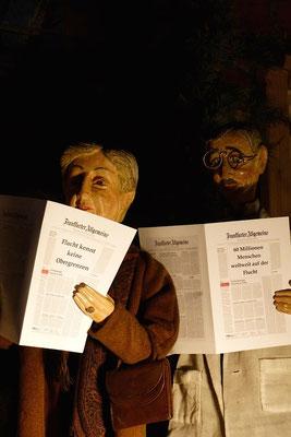 dass so viele Menschen auf der Welt auf der Flucht sind (Milieukrippe in Sankt Maria in Lyskirchen, Foto © lyskirchen)