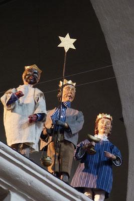 Pünktlich zu Neujahr machen sich die Sternsinger auf den Weg ... (Milieukrippe in Sankt Maria in Lyskirchen, Foto © lyskirchen)