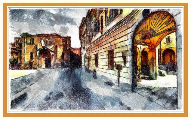 Lodi - Cortile e Chiesa