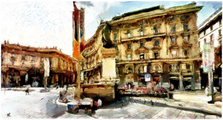 Milano - Scorcio Piazza Cordusio