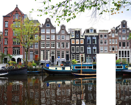 Foto: Andreas Ender, photo-art+painting | Amsterdam - censored | Edition of 9 - 50x40cm
