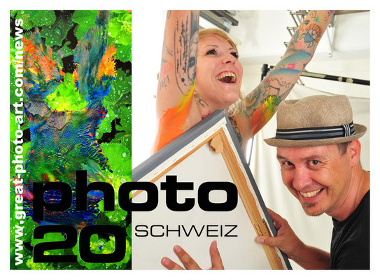 Postkarte: Andreas Ender, photo-art+painting | photo20 Zürich