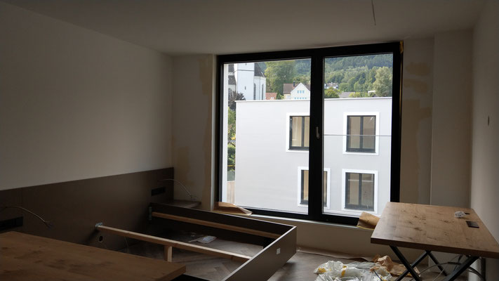 Baustelle - Saminapark Aparthotel, Frastanz. Fotos: Andreas Ender, photo-art+painting