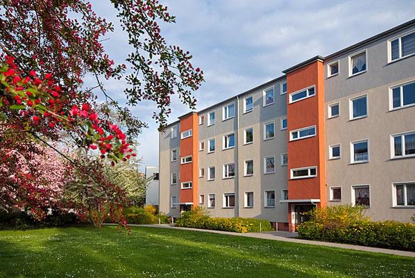 Immobilienfotografie einer Wohnsiedlung