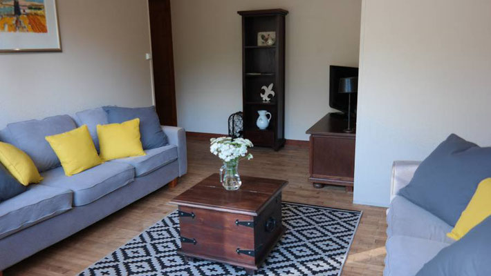 Living room with 2 and 3 seater sofa
