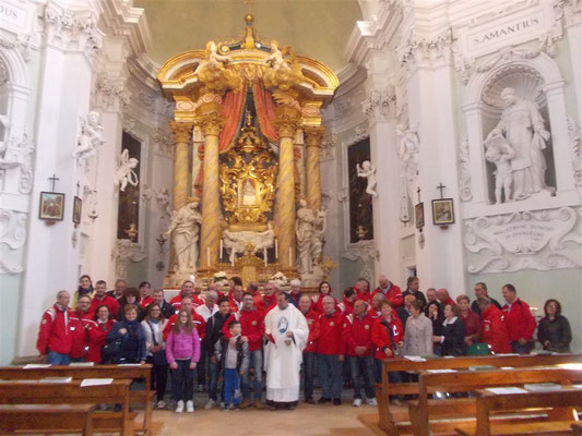 S.S. Messa - Benedizione Vespe e Vespisti al Santuario della Madonna di Belvedere  (Domenica 10 aprile 2016)