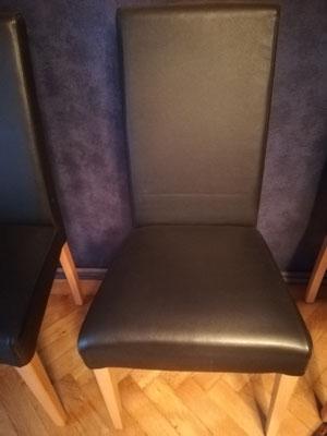 Hochlehner-Esstisch-Sessel, schwarz