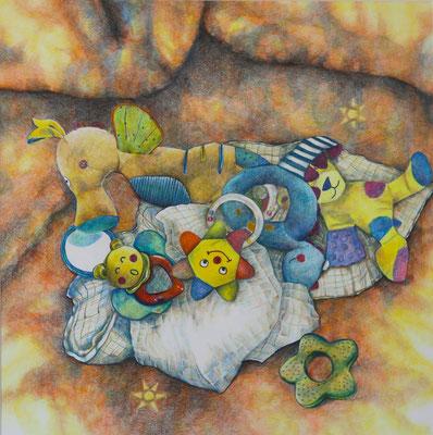 2016_Kinderspiele_60x60cm_Buntstift_Papier