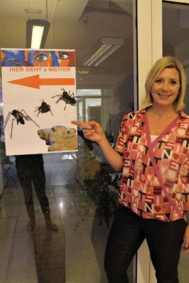 Rebekka Hackl, die Organisatorin der Künstlerlounge