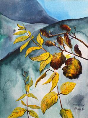 2018_Herbst an der Gösserwand_32x24 cm_Aquarell_Papier