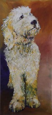 2020_Hund_120 x 60 cm_Acryl_Baumwolle