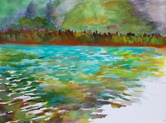 2021_7_20_Lago di Cavazzo_24x32cm_Aquarell_Buntstift_Papier