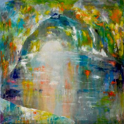 2015_Blaue Grotte_110x110cm_Acryl_Baumwolle