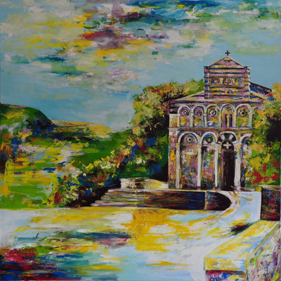 2014_San Pietro di Sorres_110x110cm_Acryl auf Baumwolle