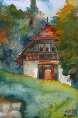 2019_Kapelle in Obermayerhofen_22x15cm_Aquarell__Papier